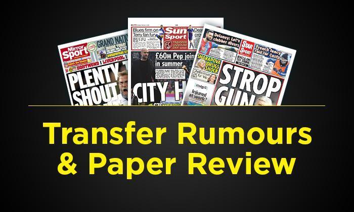 转移谣言和纸质评论 -  2月13日星期一:曼彻斯特城情节世界录制托特纳姆明星,巴克利为埃弗顿出口举办?